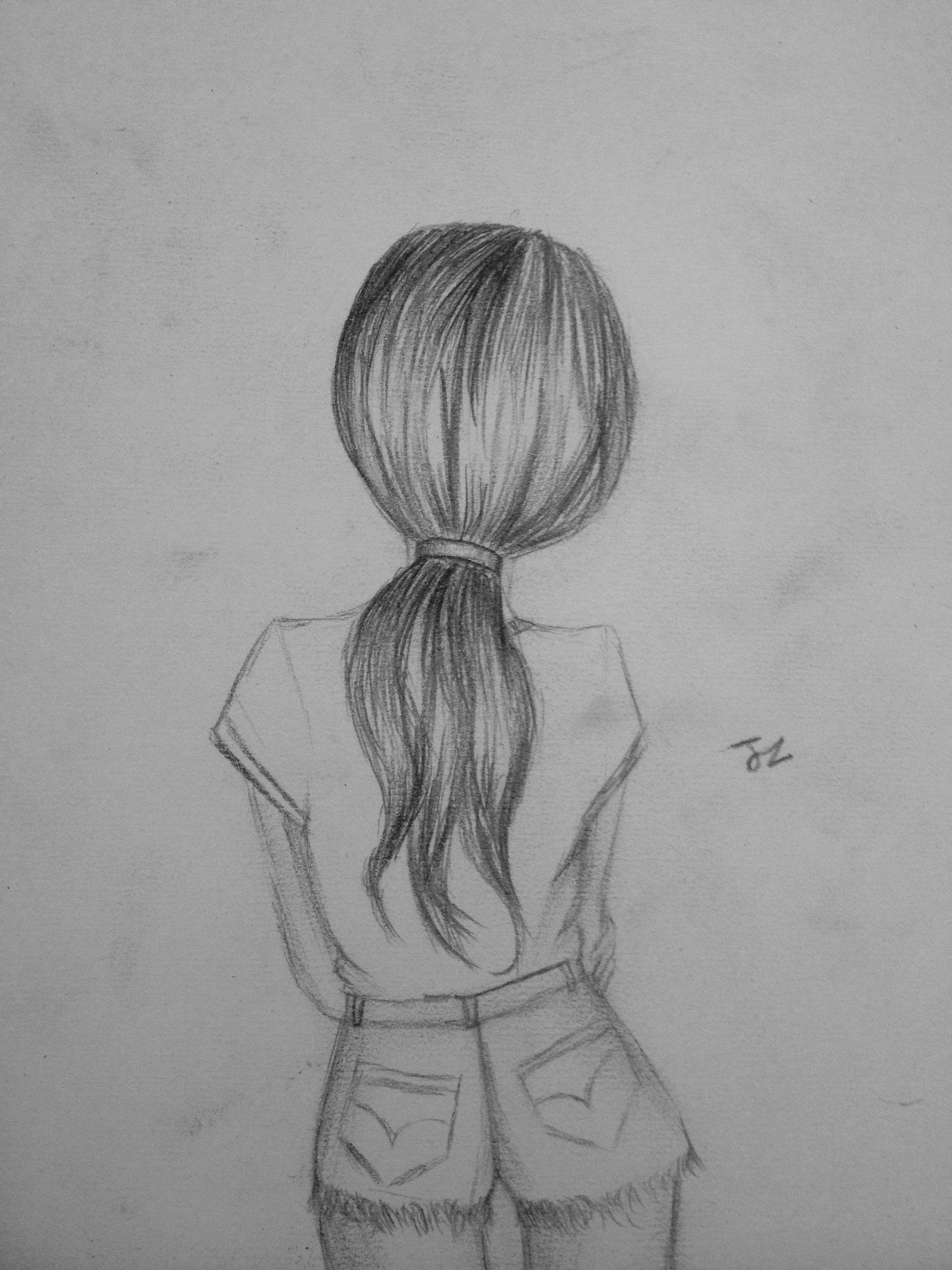 Jz Drawings Summer Look Sketches Pencil Sketches Of Girls