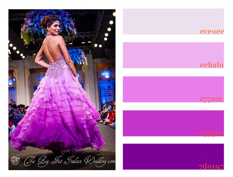 Radiant Orchid Gown Color Palette Monday Wedding Color Palette