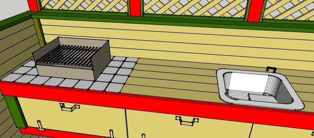 gartenk che zum selber bauen bauanleitungen baupl ne selberbauen pinterest garten k che. Black Bedroom Furniture Sets. Home Design Ideas