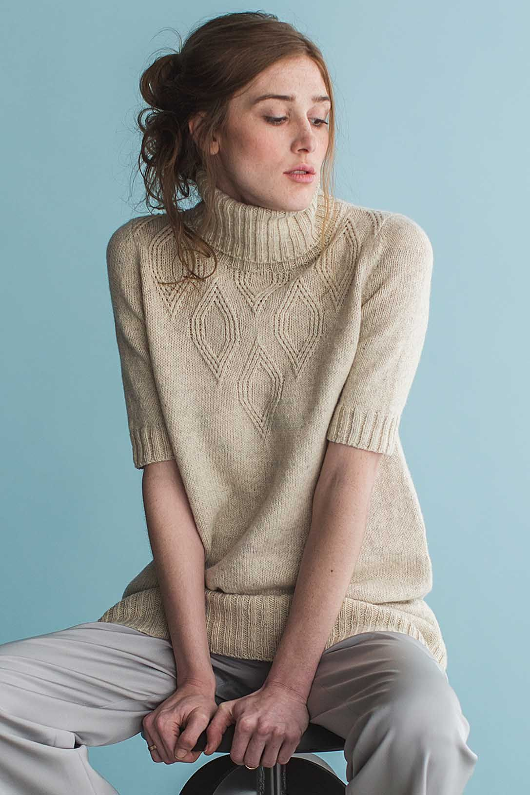 Pull On The Sloan Dress Over Tights Or Jeans And Set Out To Face The World This Piece Is Destined For Constan Autumn Knitwear Knitwear Tunic Knitting Patterns [ 1630 x 1087 Pixel ]
