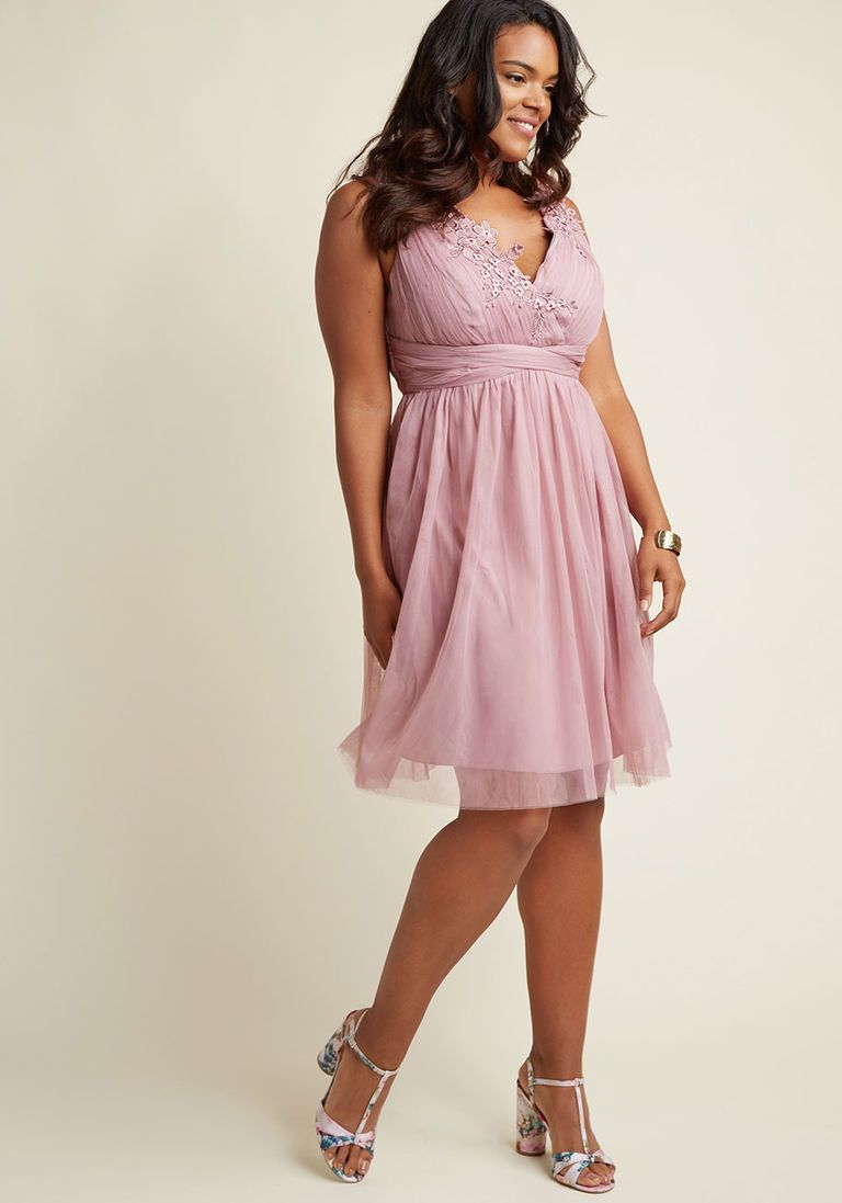 dusty rose dress casual