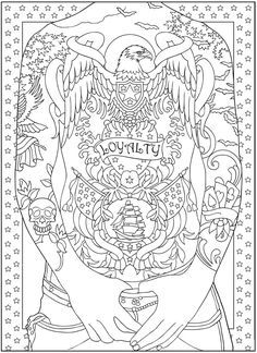 Body Art: Tattoo Designs Coloring Book Dover Publications   coloring ...