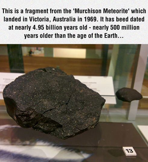 It has been dated at 4.95-billion years old...