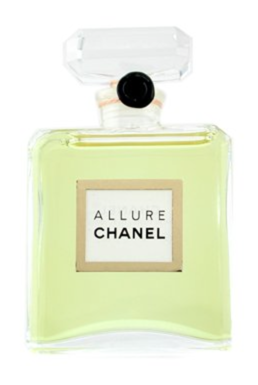 Chanel Allure Parfum £153.00 A sweet, warm floral fragrance embraces your skin with a blend of tropical wetness, freshness & floral scents. Blends of water lily, jasmine and rose with notes of vanilla gives you a rich sense of fantasy, it's lingering smell makes you feel refreshed throughout the day. Highly recommended for the modern woman.