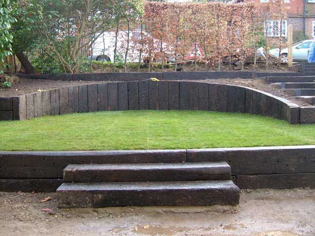 Garden Design Using Sleepers railways sleepers ideas [ "