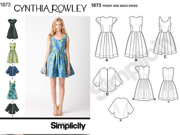 Tried and True Pattern: Simplicity 1873 (Curvy Sewing Collective ...