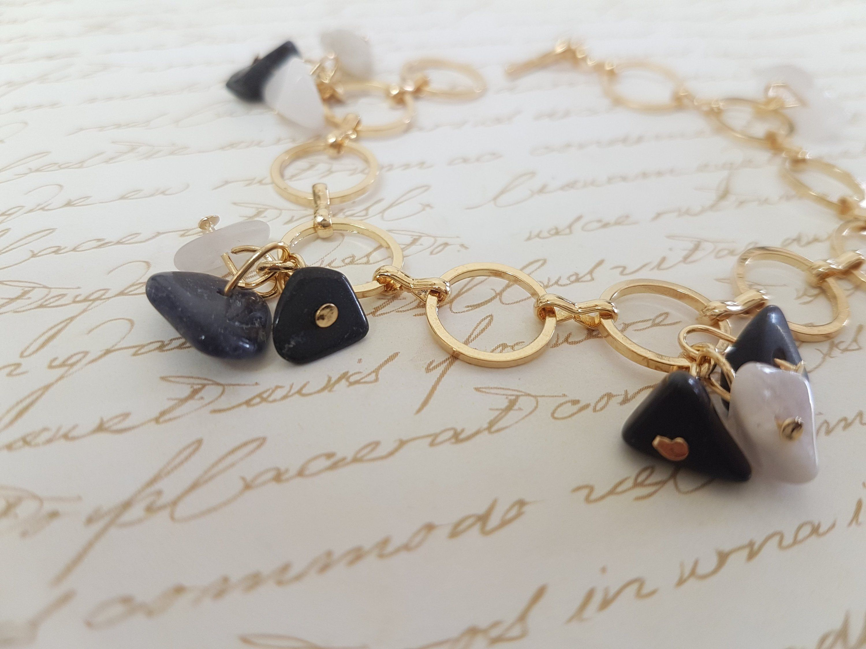 Onyx bracelet women onyx bracelet gold gemstone bracelet