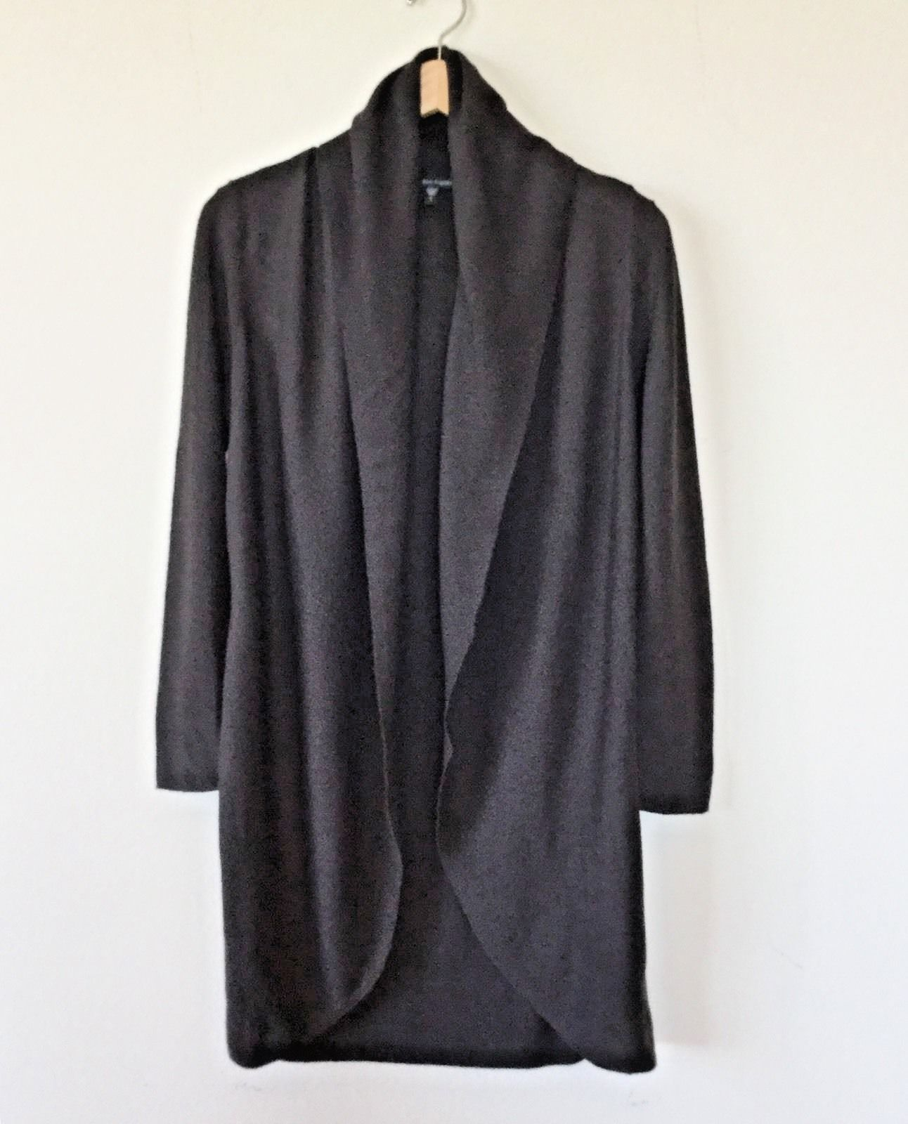 EILEEN FISHER Dark Brown Sweater Jacket And Belt (size S) | Common ...