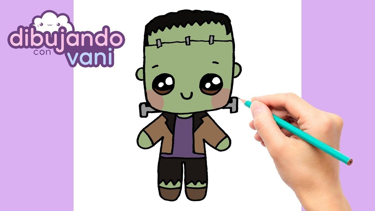 Como Dibujar A Frankenstein Paso A Paso Dibujos Para Dibujar Dibujos Frankenstein Dibujo Dibujo Paso A Paso Dibujos Kawaii