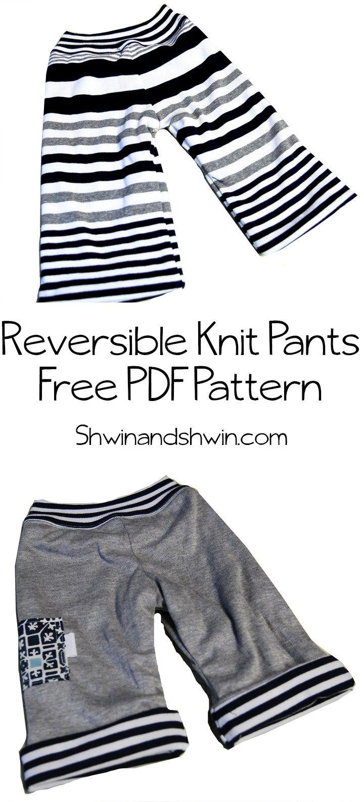 Reversible Knit Pants || Free Pattern for Baby | Patrones para niños ...