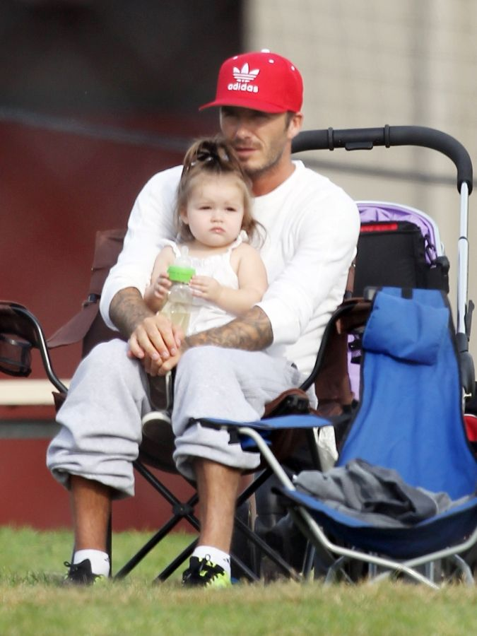 How adorable is David Beckham with his daughter Harper...