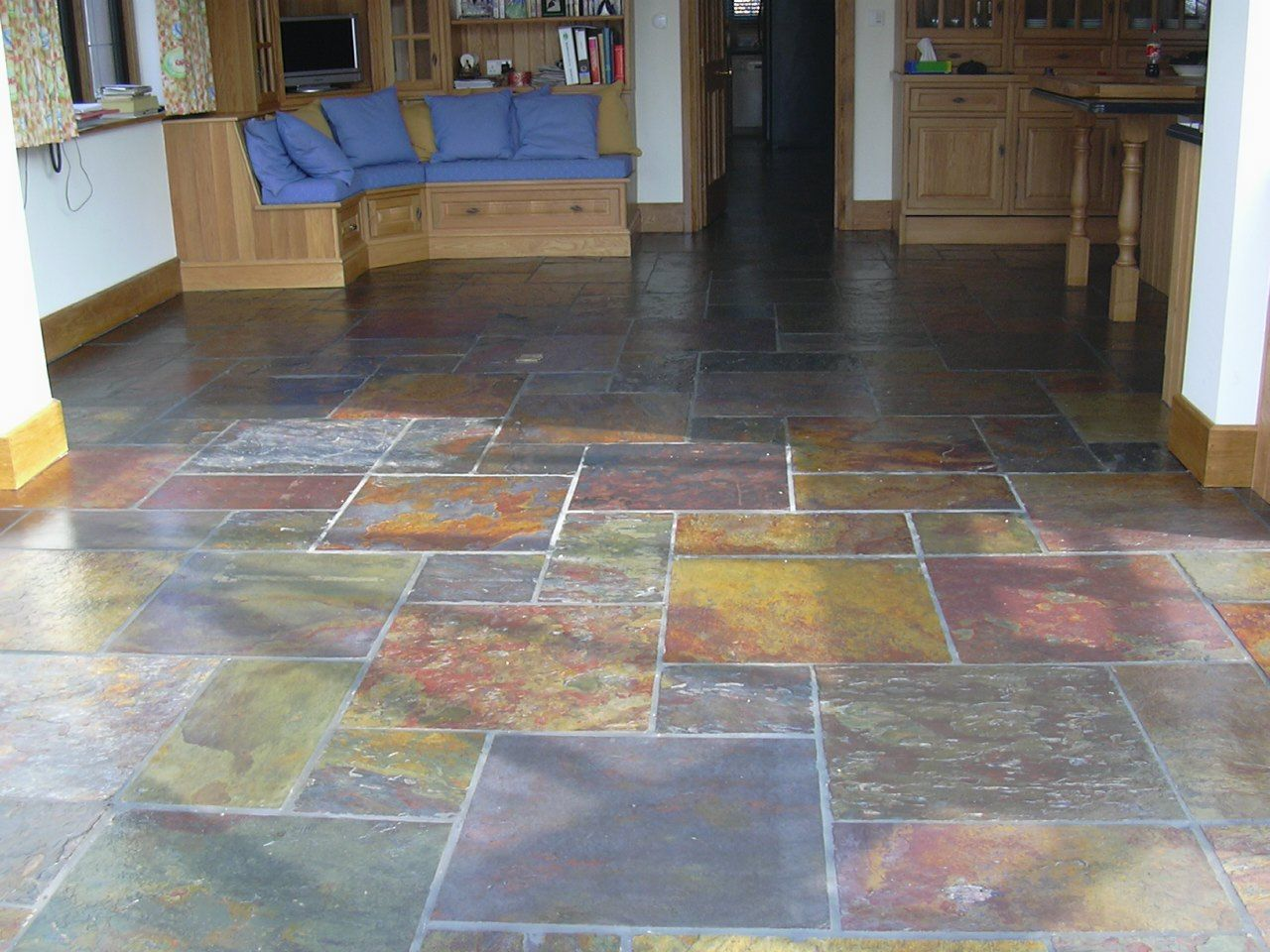 Slate kitchen floor posted by admin on jun 25 2010 in i love the big tiles