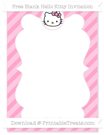 hello kitty invitations free download