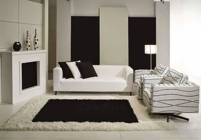 15 black and white living room designs and ideas - White Living Room Design