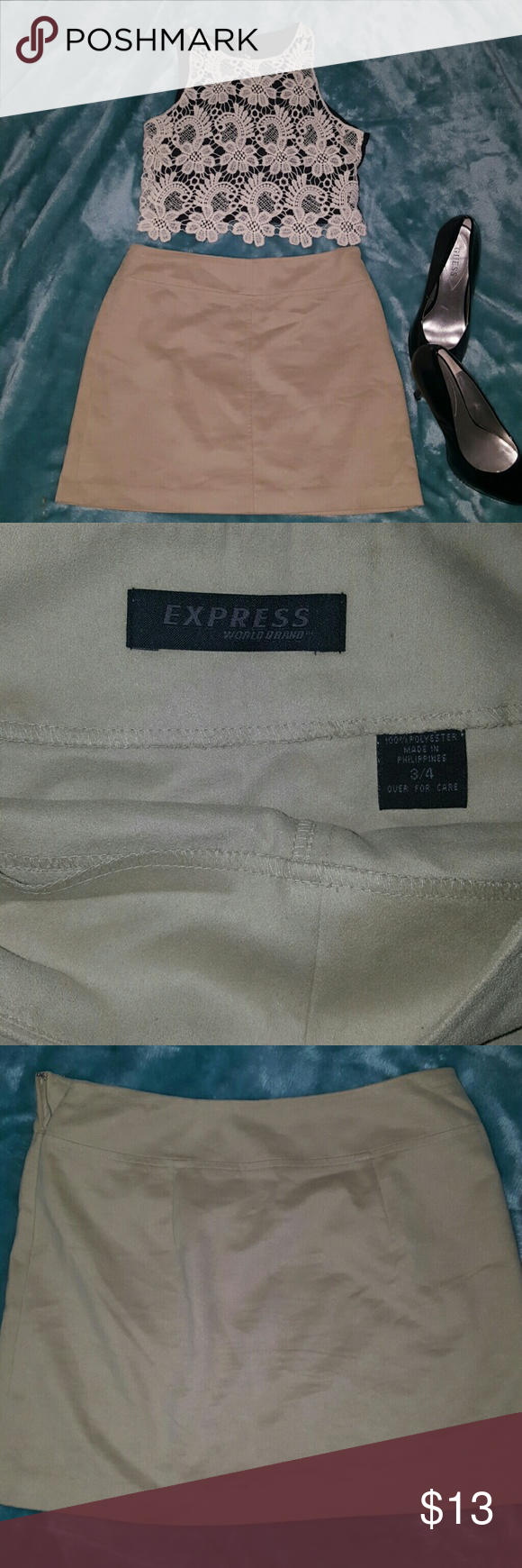 Express skirt 100% Polyester Express skirt.No stains or signs of being worn. Express Skirts Midi