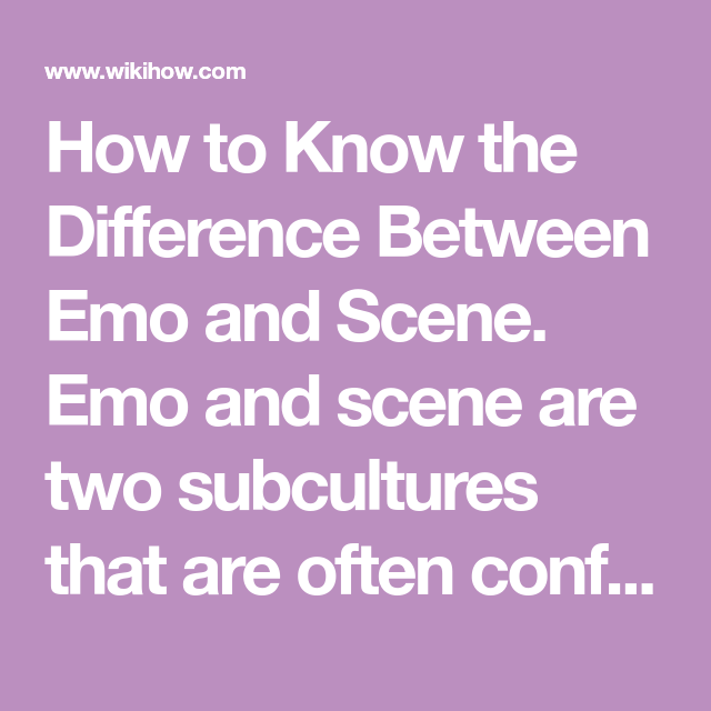 difference between emo and scene