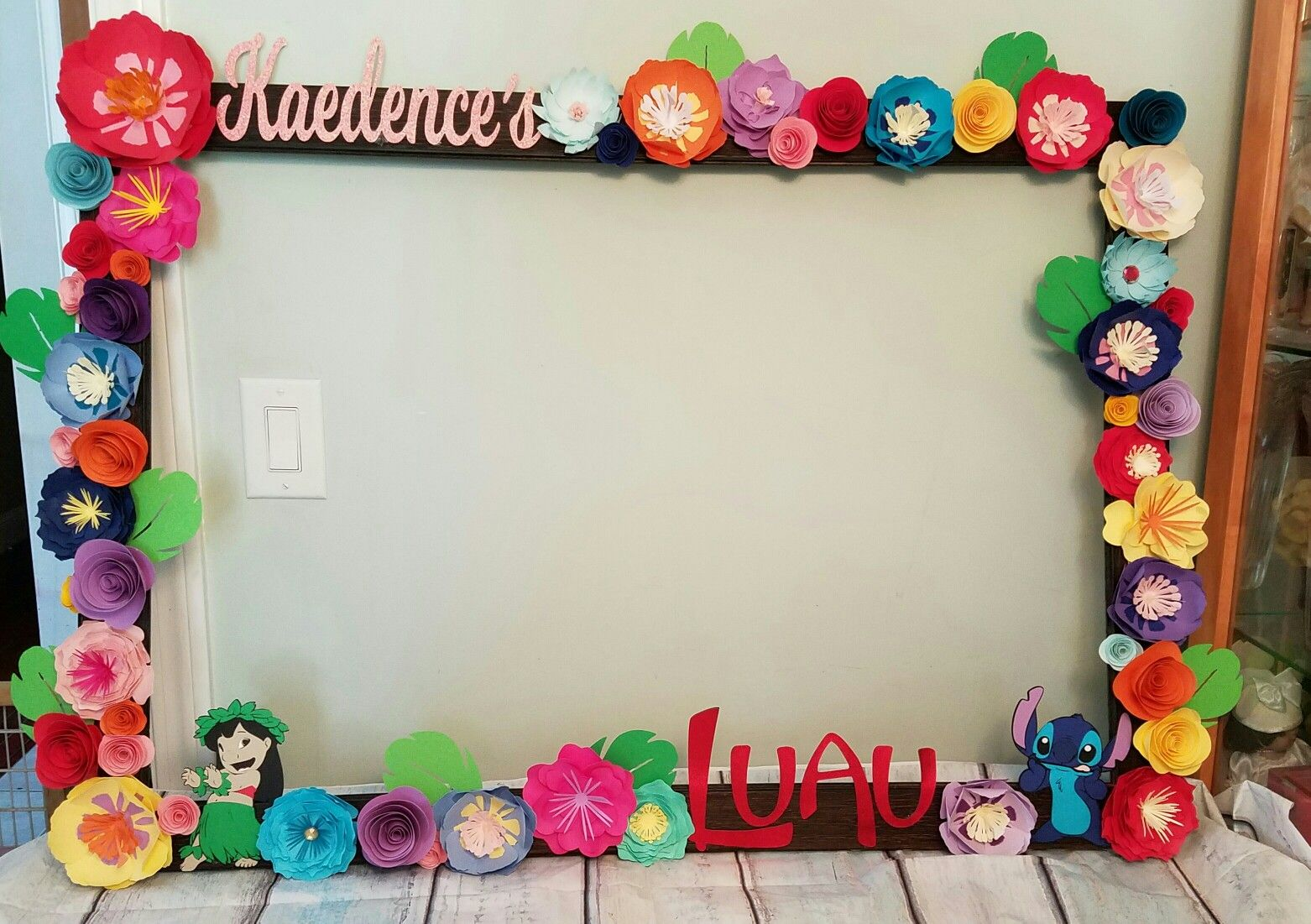 Selfie Frame For A Lilo And Stitch Birthday Party 10th Birthday