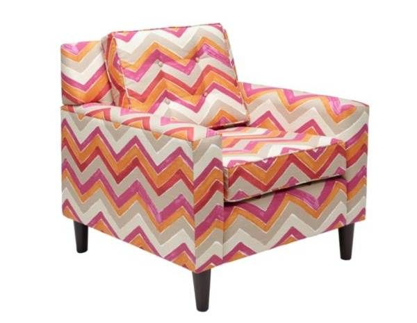 Chevron chair - vivid colors in zig zag pattern | Furniture ...
