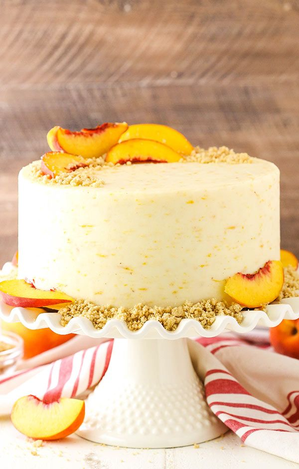 Brown Sugar Layer Cake with Peach Filling -   12 layer cake Drawing ideas