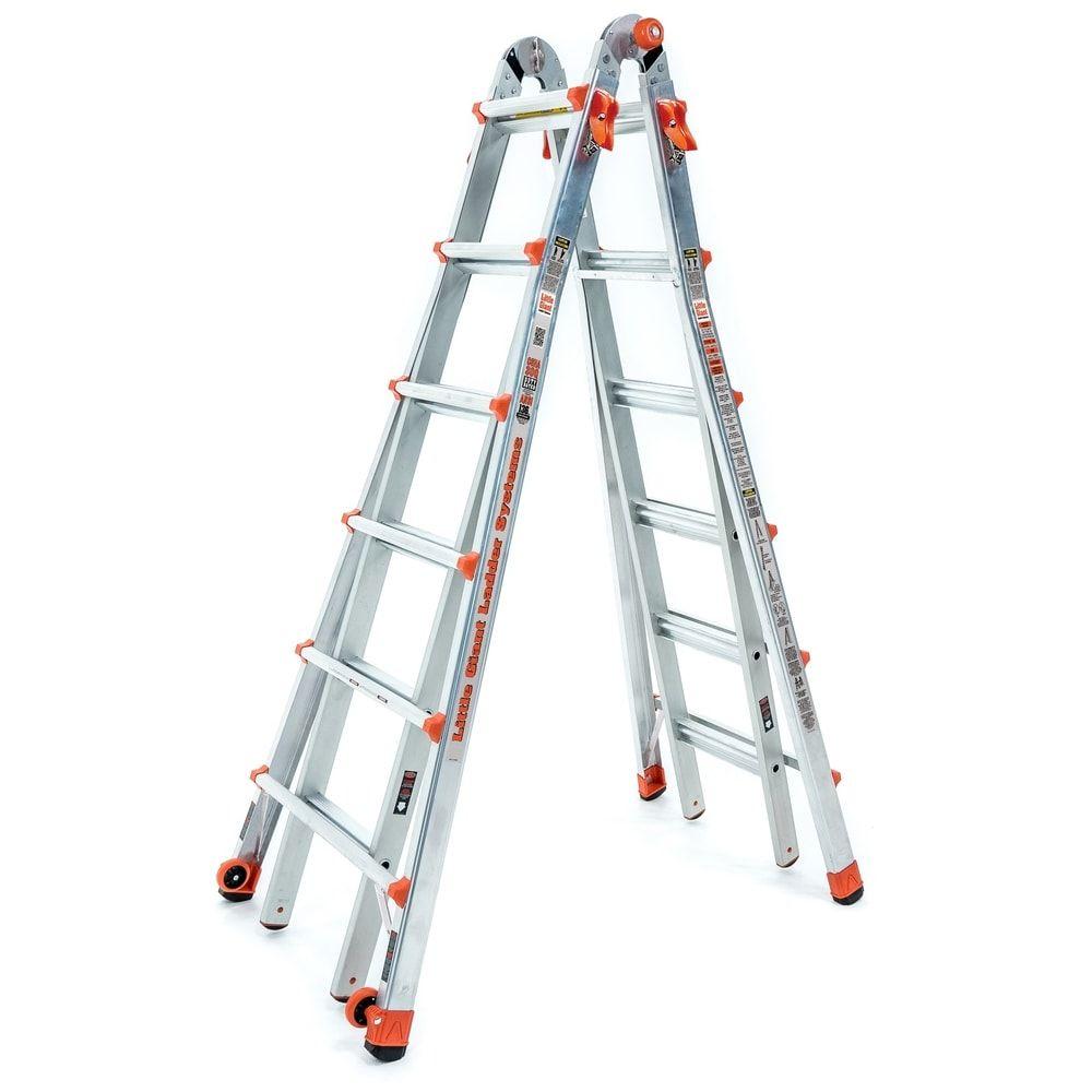 Little Giant Aluminum Lt 26 Multipurpose Ladder Silver In 2020
