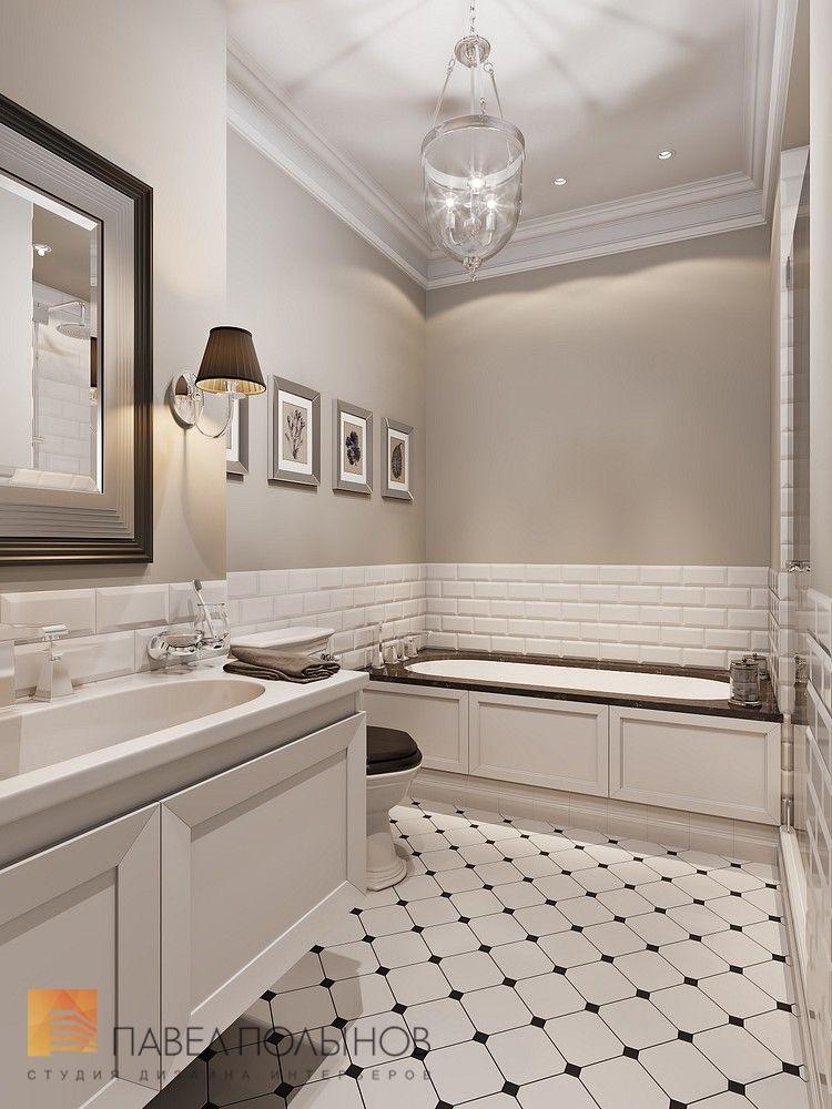 Ванная комната в стиле американской неоклассики, ЖК Парадный Квартал