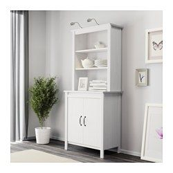 Ikea Brusali White High Cabinet With Doors Glass Cabinet Doors Cabinet Doors Ikea Hemnes Cabinet