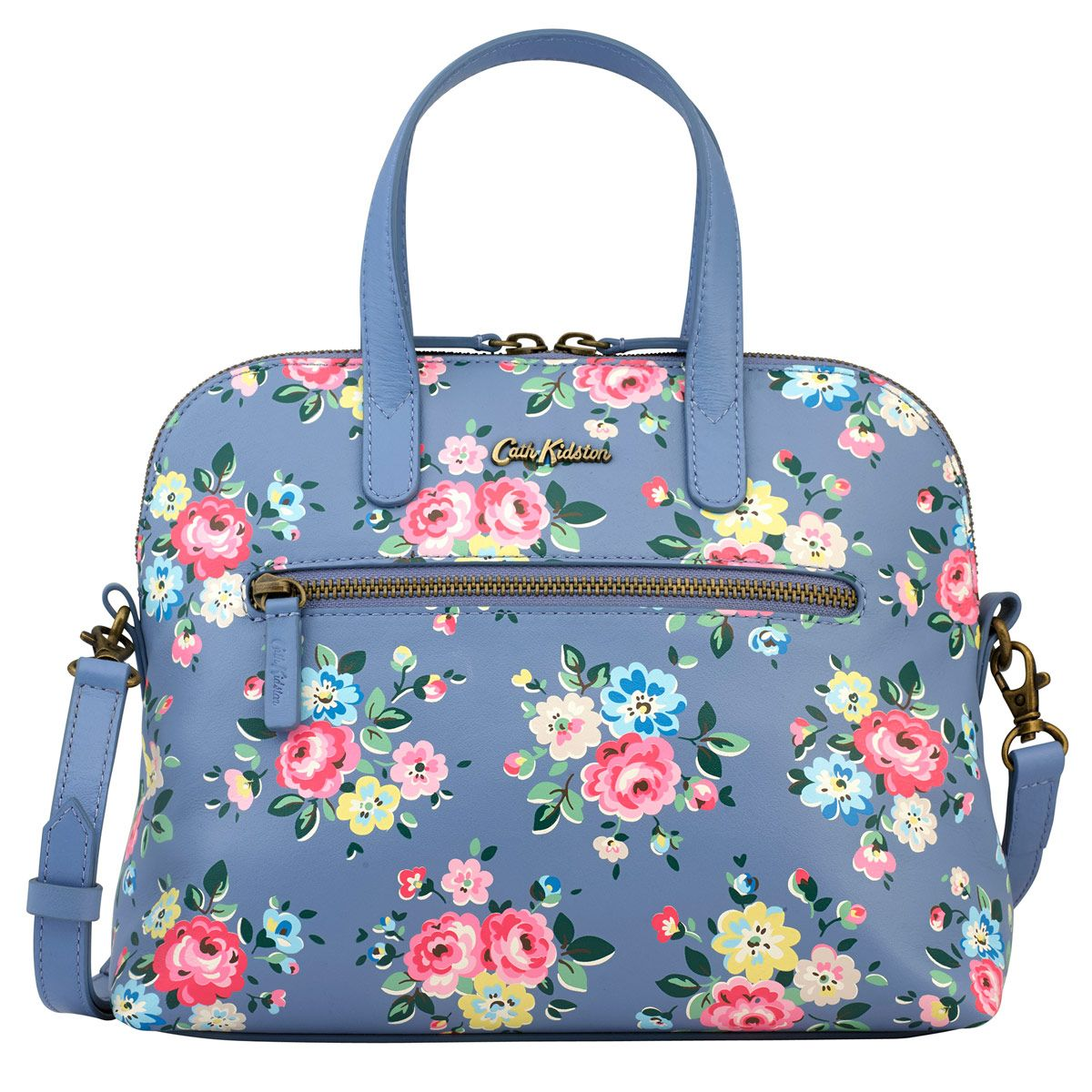 Rose Printed Mini Leather Handbag