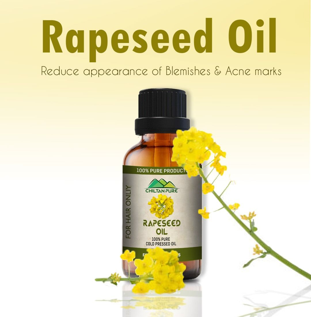 Rapeseed Oil Cold Pressed Rapeseed Oil Oils For Skin Treating Dry Hair