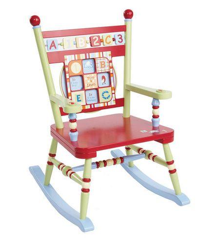 Alphebet Soup Rocker Rocking Chairs Girls Boys Kids Childrens Rockers Multi Color