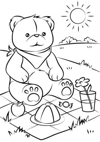 Teddy Bears Picnic Coloring Page Bear Coloring Pages Teddy Bear Coloring Pages Coloring Pages