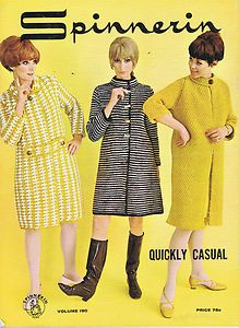 VINTAGE KNITTING PATTERNS 1960s SHEATH DRESS CAPE COATS SUITS SWEATERS SPINNERIN | eBay
