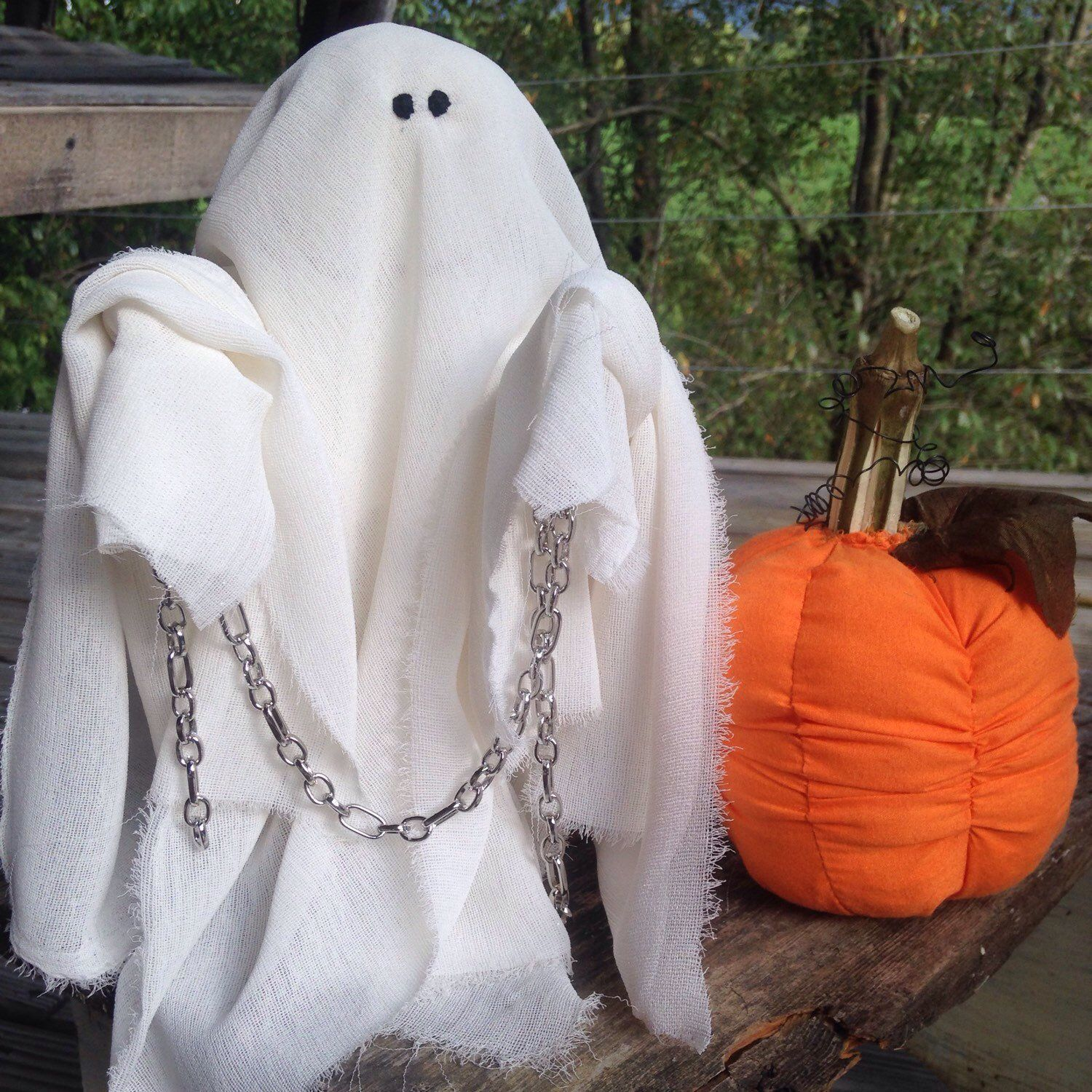 NanasThreadsOfLove shared a new photo on Halloween Pinterest - Ghost Halloween Decorations