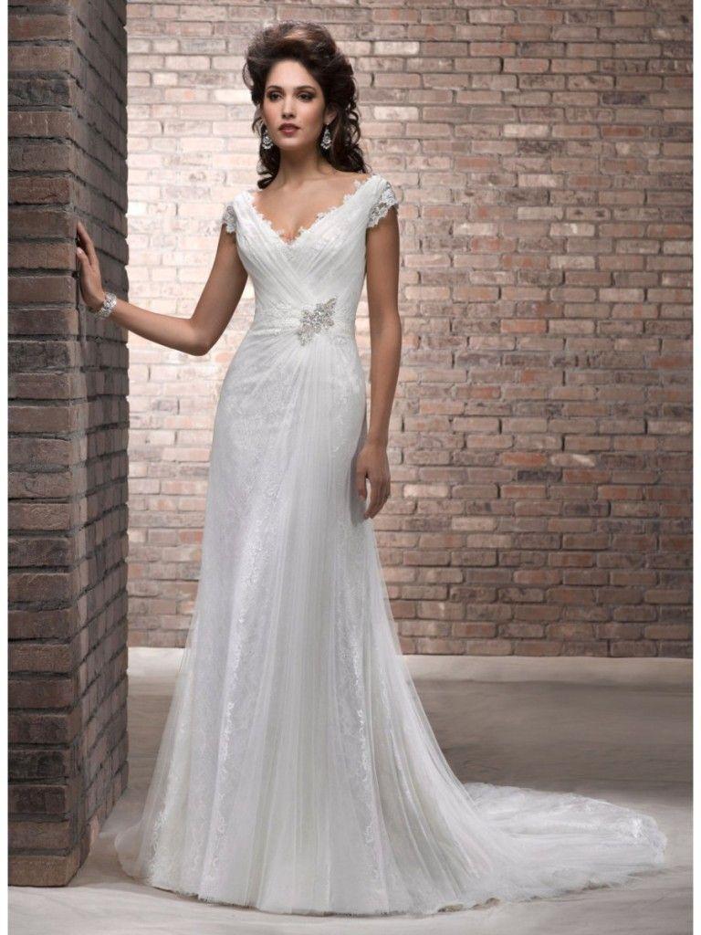 Ivory Wedding Gowns For Older Brides | jeanne | Pinterest | Ivory ...