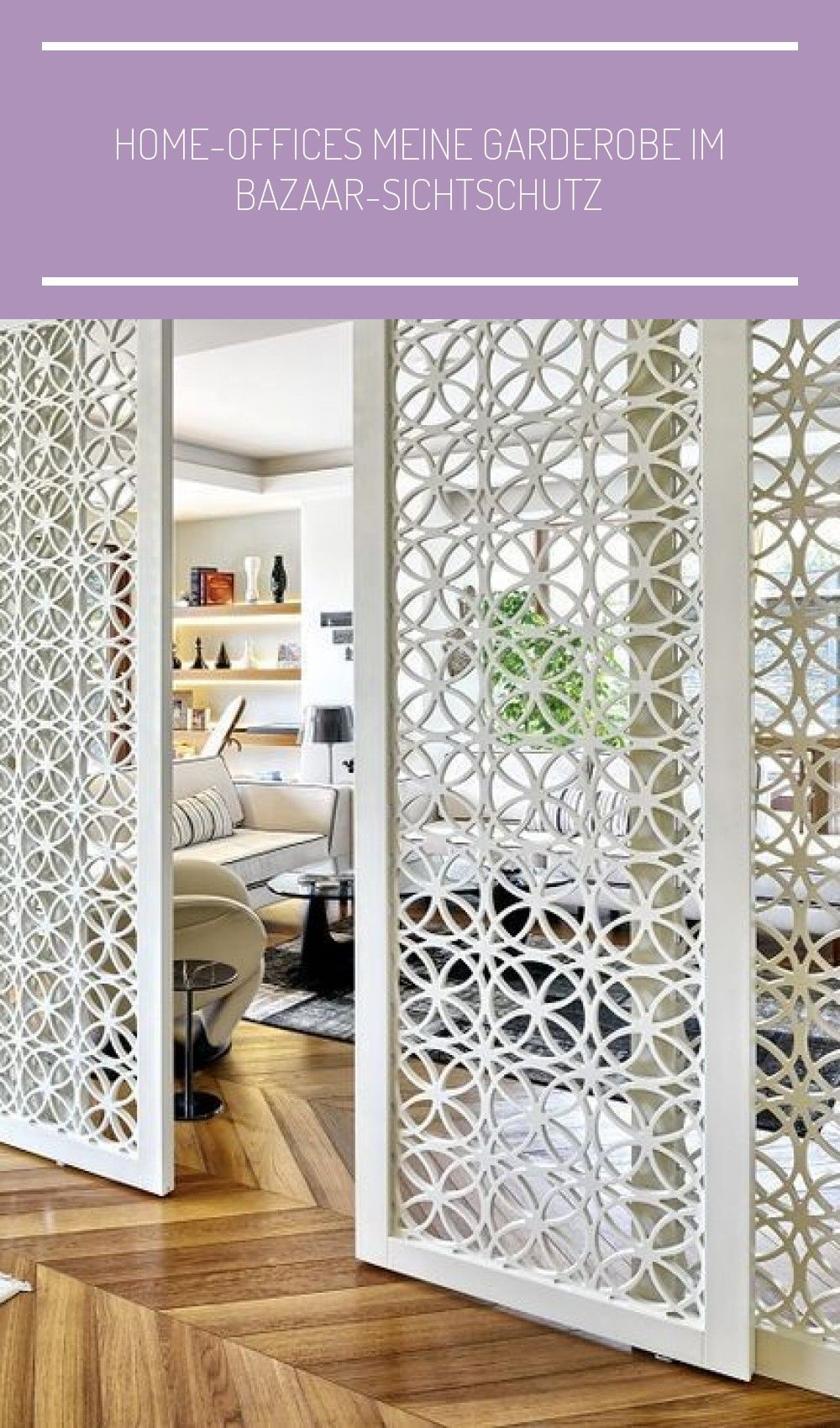 Sichtschutz Schlafzimmer Home-offices Meine Garderobe Im Bazaar-sichtschutz #bazaar #garderobe #meine #offices #sichtschutz #decor #einrichtungsideen … | Divider, Home Office, Motif Design