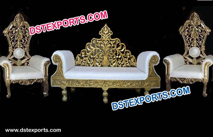 Swell Wedding Stage Sofa Set Chairs For Bride Groom Inzonedesignstudio Interior Chair Design Inzonedesignstudiocom