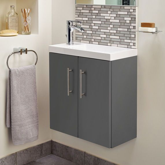 Cleveland 500 Basin And Gloss Grey Wall Mounted Vanity Unit   bathstore. Cleveland 500 Basin And Gloss Grey Wall Mounted Vanity Unit