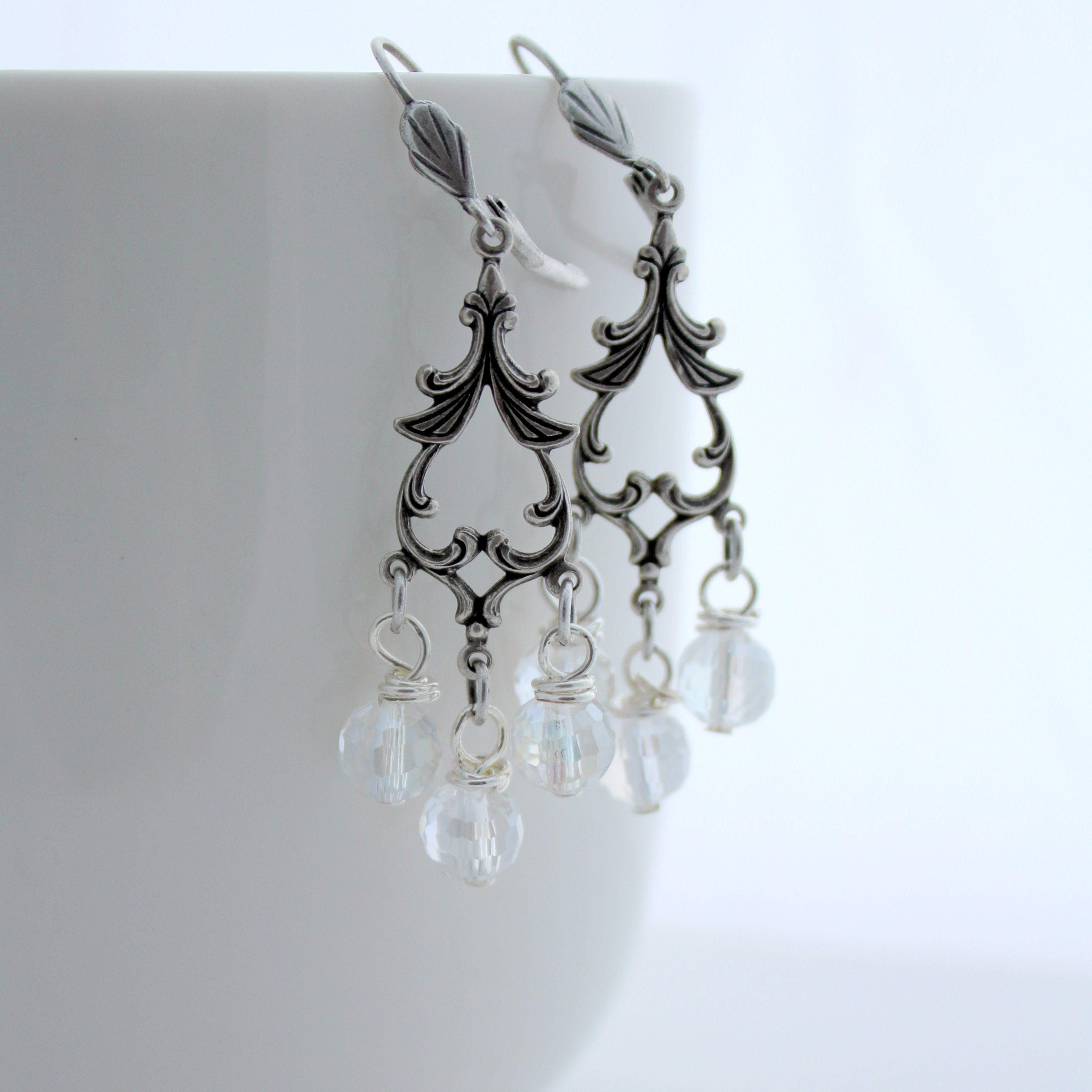 Vine chandelier crystal earrings aloadofball Image collections
