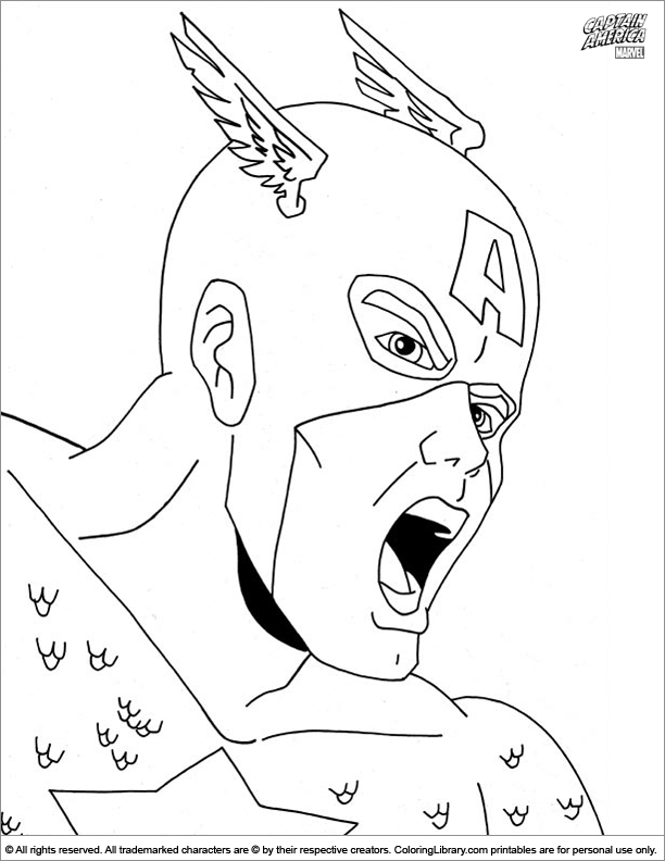 Captain America Coloring Sheet Is Screaming