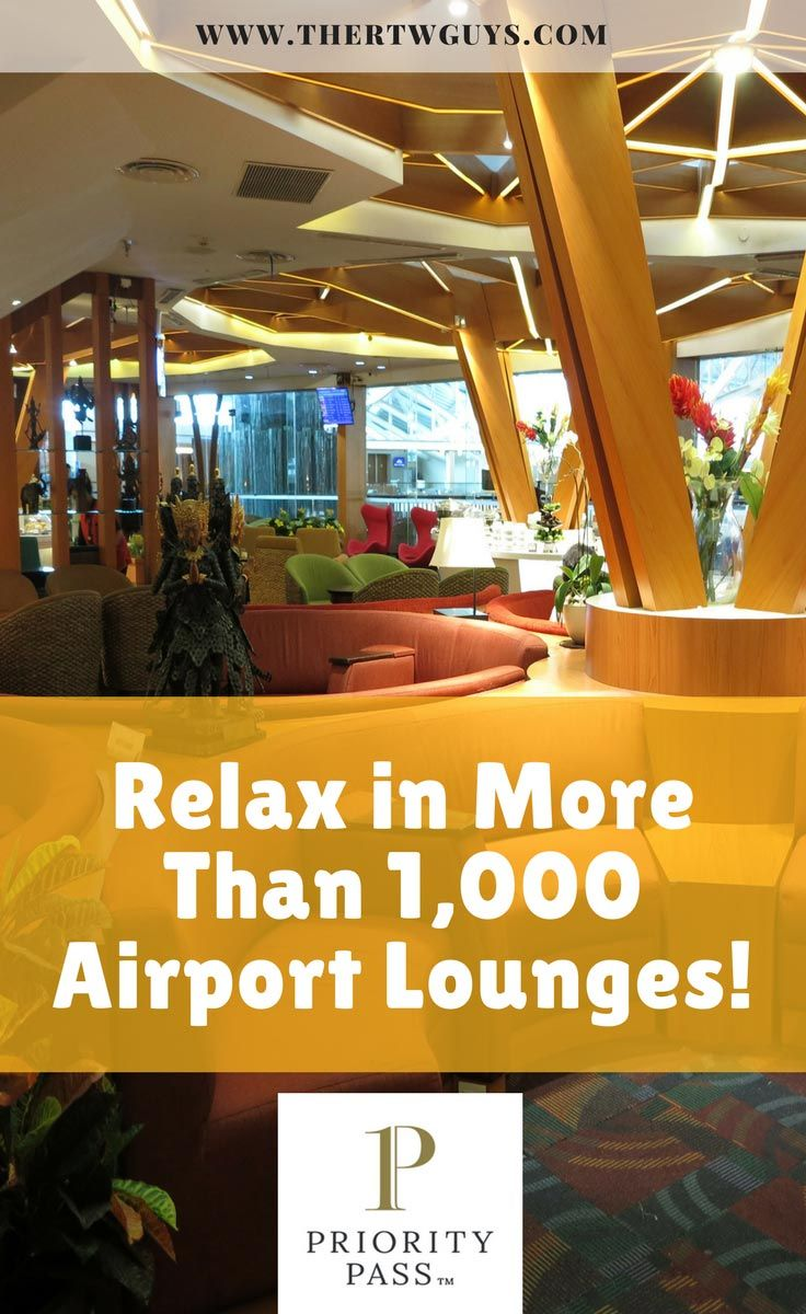 Want access to over 1000 airport lounges around the world? Get your Priority Pass card today - at a nice discount! via @thertwguys