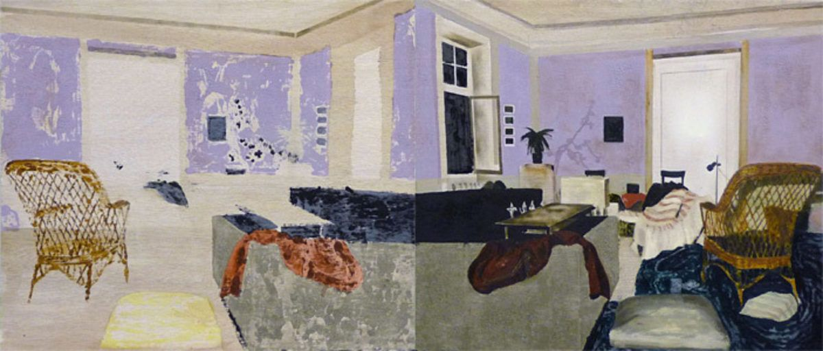 Mamma Andersson   Hangover, 2008   Oil On Panel In Two Parts   62 X 140 Cm   © courtesy of the Artist and Stephen Friedman Gallery