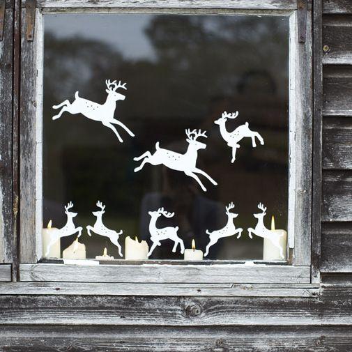 Deer Window Sticker . Looks so cute:}