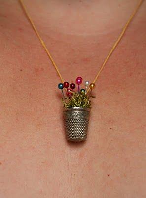 Thimble Necklace Tutorial