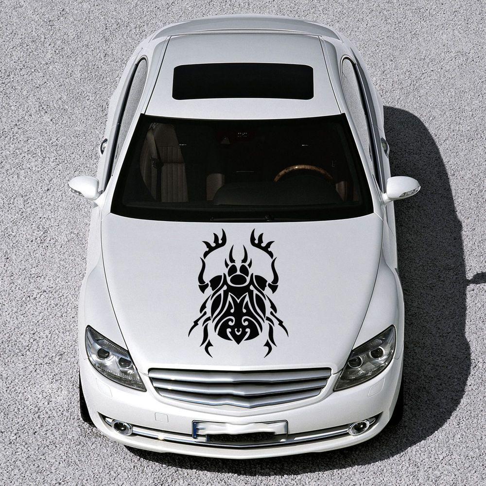 EVIL BEETLE ANIMAL DESIGN HOOD CAR VINYL STICKER DECALS ART MURALS SV1164