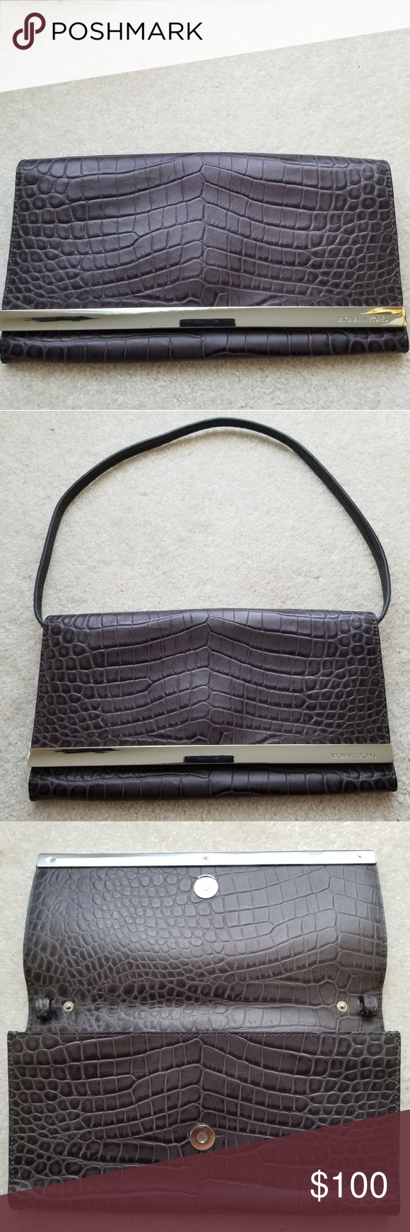 a0b92822baec Michael Kors Tilda Leather Python Print Clutch Hello and welcome...Up for  sale