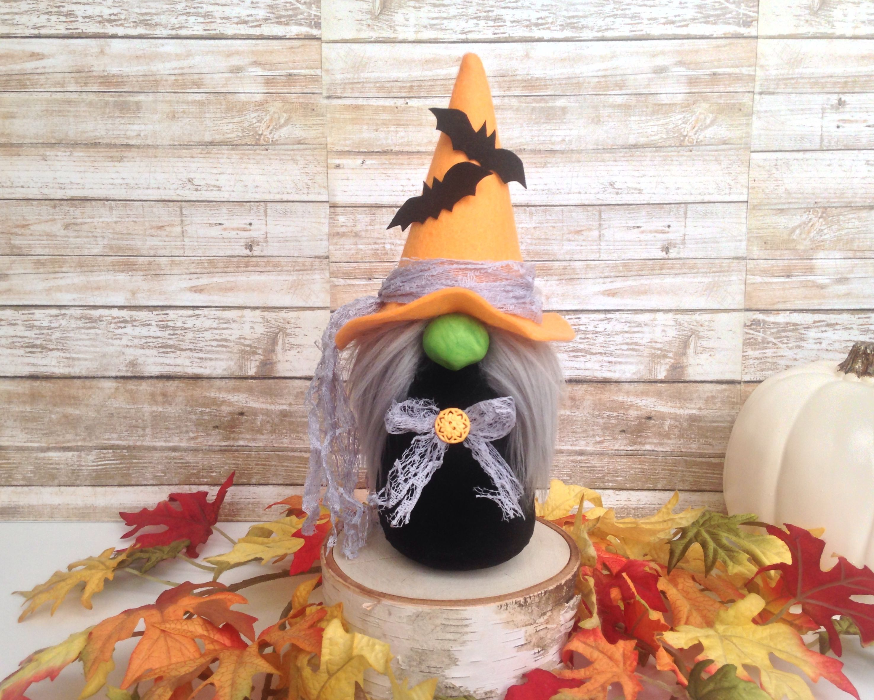A cute little Halloween witch gnome See more cute gnomes at