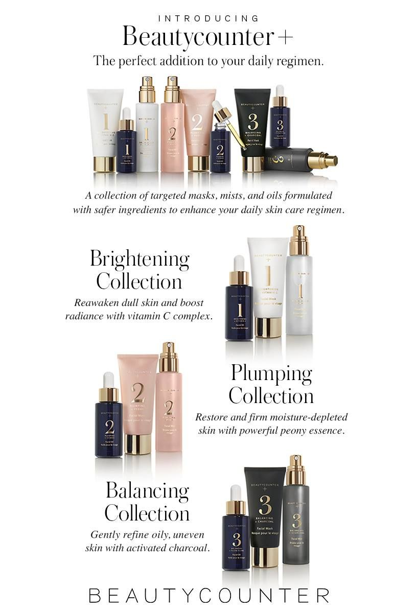Beautycounter + is HERE! Beautiful new spa sets targeted at specific skin types to get you maximum results! Check out the new packaging, just GORGEOUS!   BC+ can be purchased individually or as a set.  Available in mini sets perfect for trying them out or travel.  GRAB YOURS TODAY before they sell out.