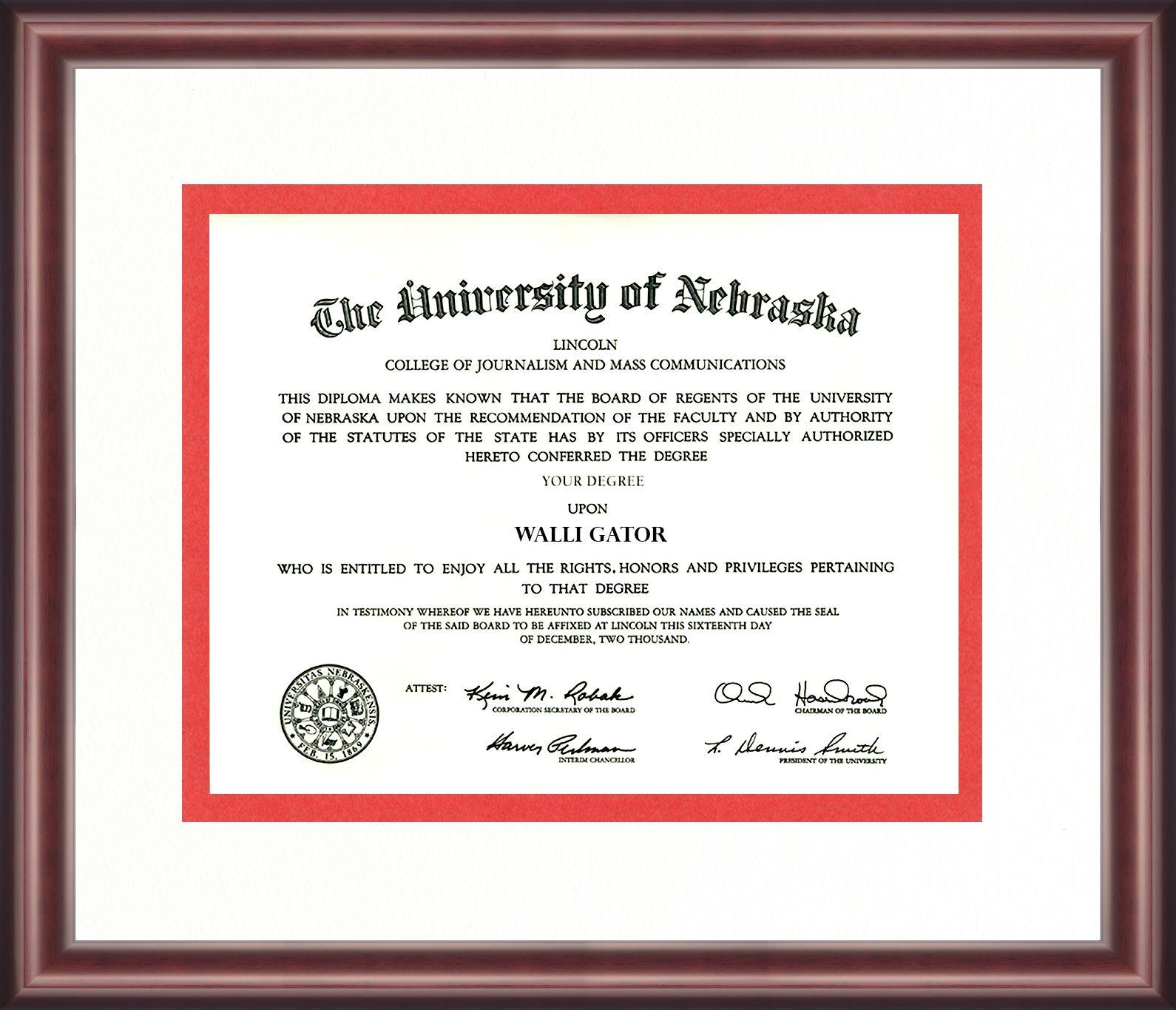 University Of Nebraska Diploma Frame Talking Walls Diploma Frame Nebraska University