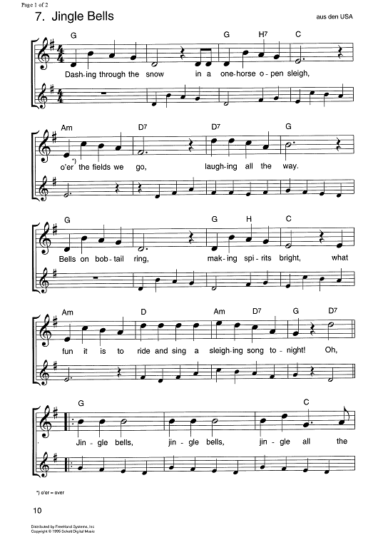 Jingle Bells Sheet Music by Traditional | Le'veon bell, Sheet ...