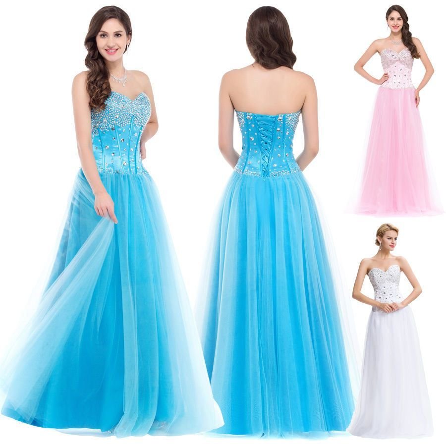 Plus size beaded long prom dresses bridesmaid masquerade evening