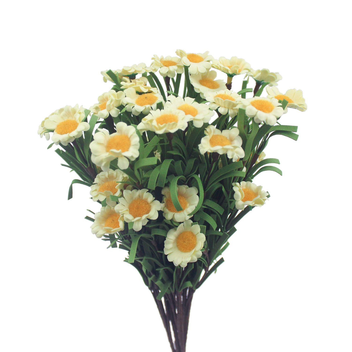 Mtes fake flower bouquets artificial daisies pe fabric 8 heads of mtes fake flower bouquets artificial daisies pe fabric 8 heads of wedding bouquets decorative flowers yellow health and beauty pinterest flower izmirmasajfo